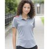 Adidas® Ladies' Climacool 3-Shoulder Stripe Polo Shirt
