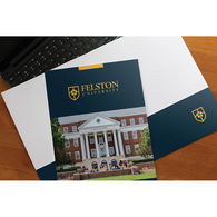 Glossy Pocket Folder with 3-Color Imprint