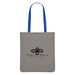 """12.5"""" x 14.25"""" Heathered Polyester Tote Bag with Colored Back and 23.5"""" Handles"""