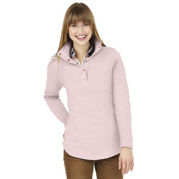 Charles River® Ladies' Pullover Snap Placket Sweater