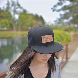 Snapback Hat with Full-Color or Laser Decorated Patch - Low Minimums!