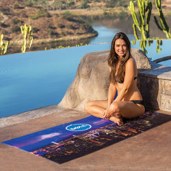 "30"" x 60"" Microfiber Beach Towel with Full Color Printing"