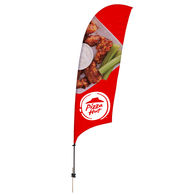 10.5' Razor Sail Sign with Full Color Printing and Ground Spike (Single-Sided)