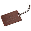 *NEW* Faux Wood Grain Luggage Tag Holds a Business Card