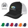 6-Panel Cotton Unstructured Mesh Back Trucker Cap with Plastic Snap Tab Closure