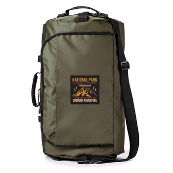 """Water Resistant 45L Duffel Backpack Holds up to 15"""" Laptop"""