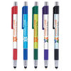 *NEW* Quick Ship Chrome Accent Trim Grip Stylus Pen with Full Color Imprint