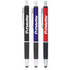 Ballpoint Stylus Pen with Textured Grip (Dual Tips) (Optional Full-Wrap Laser Engraving)