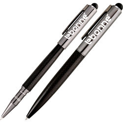 Aluminum Stylus and Pen with Distinctive Dash Pattern in Barrel Gift Set