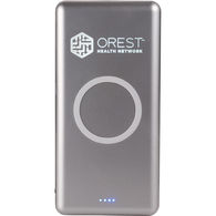 Qi Certified Wireless Charging 10000 mAh Power Bank with Light-Up Logo - BEST