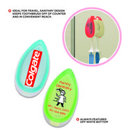 Antibacterial Toothbrush Holder with Suction Cup Attaches to Mirror