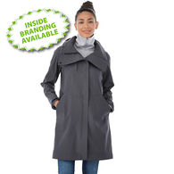 Quick Ship LADIES' Softshell Hooded Rain Coat