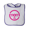 Infant Terry Snap Bib with Contrast Color Binding