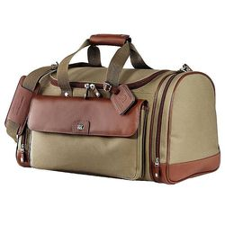 "19"" Cutter & Buck&reg Cotton and Leather Club Duffel"