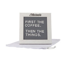 *NEW* Message Board with Wood Frame Includes Plastic Letters