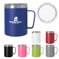 12 oz  Stainless Steel Vacuum Mug with Powder Coated Finish