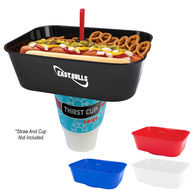 58 oz Square Grub Tub® Snack Container Fits On Most 16-40 Oz Souvenir Cups, Cans And Bottles
