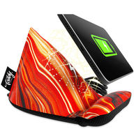 *NEW* Wedge Microfiber Mobile Device Stand/Cleaning Cloth with Built-in Wireless Charger