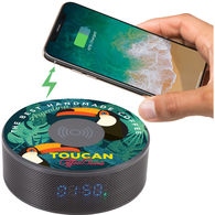 Circular Wireless Charging Bluetooth, Speaker and Clock All in One!