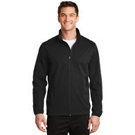 Men's Full-Zip Soft Shell Jacket is Water Resistant