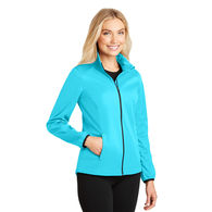Ladies' Full-Zip Soft Shell Jacket is Water Resistant