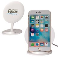 *NEW* Wireless Phone Charger Stand with Large Imprint Area - Valuable Real Estate on Desktop