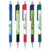 *NEW* Quick Ship Chrome Accent Trim Grip Pen with Full Color Imprint