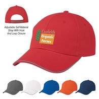 *NEW* 6-Panel, Medium Profile Cap with Reflective Piping Accent and Hook And Loop Closure