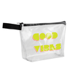 *NEW* Clear Vinyl Pouch with Zipper and Hand Strap