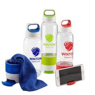 *NEW* Water Bottle with Built-in Phone Stand & Cooling Towel in a Separate Compartment