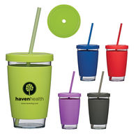 *NEW* 15 Oz. Eye-Catching Single Wall Tumbler with Screw-on, Spill-Resistant Lid