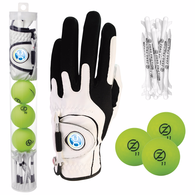 *NEW* Zero Friction® Supertubes® Custom Golf Glove with 3 Balls and 10 Tees
