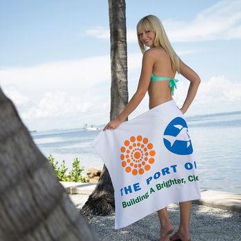 "32"" x 60"" WHITE Turkish Cotton Beach Towel"
