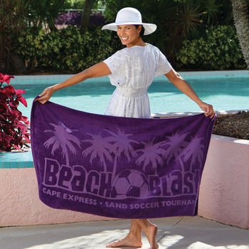 """30"""" x 60"""" COLORS Mid-Weight Beach Towel"""