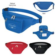 *NEW* Polyester Fanny Pack with Organizer Pocket