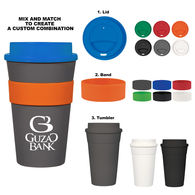 *NEW* 16 Oz. Travel Tumbler with Silicone Band - Mix and Match Colors