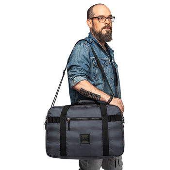 """3-5 Day Travel Duffel Opens Flat with Dedicated Clothing & Work Compartments for 17"""" Laptops"""