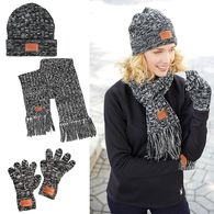 *NEW* Heathered Knit Hat, Scarf and Glove Set