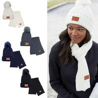 *NEW* Ribbed Knit Hat and Scarf Set