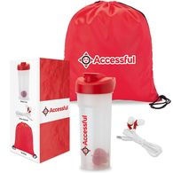 *NEW* Shake N' Sound Fitness Gift Set Includes Shaker Cup, Earbuds, and Drawstring Bag in a Semi-Custom Box