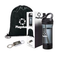 Workout Starter Gift Set Includes Bottle, Safety Multi Tool, and Drawstring Bag in a Semi-Custom Box