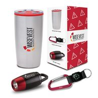 *NEW* Sip, Shine and Navigate Gift Set Includes 20 oz Tumbler, Carabiner Compass, and Clip Light in a Semi-Custom Box