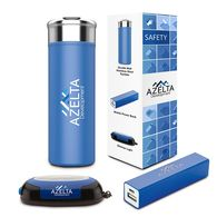 *NEW* On-The-Go Safety Gift Set Includes Travel Tumbler, Stickup Light, and Power Bank in a Semi-Custom Box