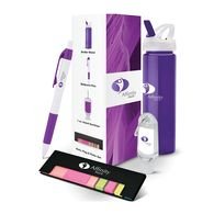 *NEW* Room Drop Event Gift Set Includes Water Bottle, Pen, Hand Sanitizer, and Mini Memo Desk Set in a Semi-Custom Box