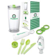 *NEW* Out and About Gift Set Includes Travel Tumbler, Bottle Opener, Hand Sanitizer, and Utensil Kit in a Semi-Custom Box
