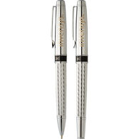 *NEW* Chrome Pen Set with Diamond Etched Pattern