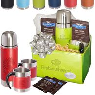 *NEW* Gift Set with Thermal Bottle & Cups, and Ghirardelli Hot Chocolate