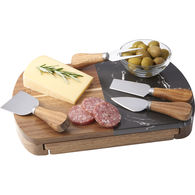 *NEW* Black Marble Cheese Board Set with Knives