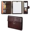 Letter-Size Cutter & Buck&reg Genuine Top Grain Leather Tri-Fold Padfolio (Holds most tablets)