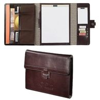 Letter-Size Cutter & Buck® Genuine Top Grain Leather Tri-Fold Padfolio (Holds most tablets)